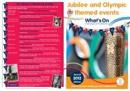 Jubilympics What's On - South Derbyshire District Council