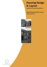 Housing Design and Layout - South Derbyshire District Council