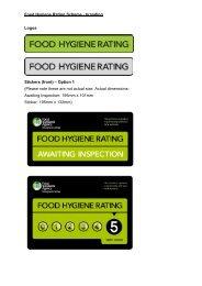 Food Hygiene Rating Scheme - branding Logos Stickers (front ...