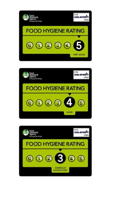 Food Hygiene Rating Scheme Branding Logos Stickers Front