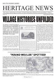 Heritage News 19 - South Derbyshire District Council