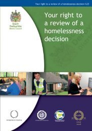 Your right to a review of a homelessness decision (571KB) - South ...