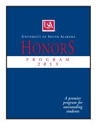 Honors Program Application Form - University of South Alabama