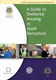 A Guide to Sheltered Housing in South Derbyshire