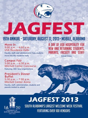 to view the JagFest 2013 postcard - University of South Alabama