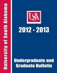 Undergraduate/Graduate Bulletin - University of South Alabama
