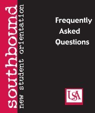 1157 FAQs book - University of South Alabama