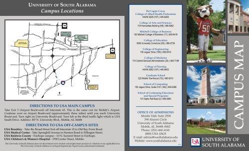 2013 Campus Map Brochure.QXD - University of South Alabama