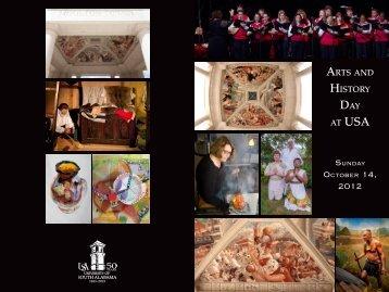 Arts And History dAy At UsA - University of South Alabama