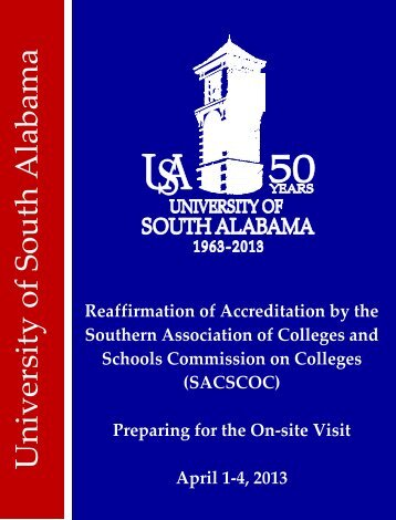 Schools Commission on Colleges - University of South Alabama