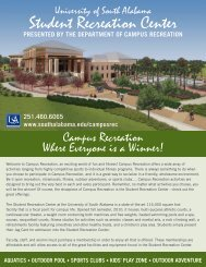 Student Recreation Center - University of South Alabama