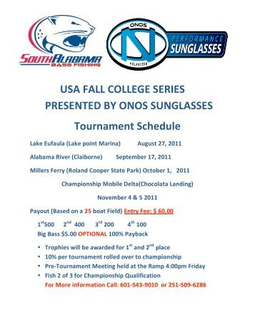 USA FALL COLLEGE SERIES PRESENTED BY ONOS ...