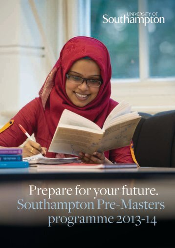 Pre-Masters brochure - University of Southampton