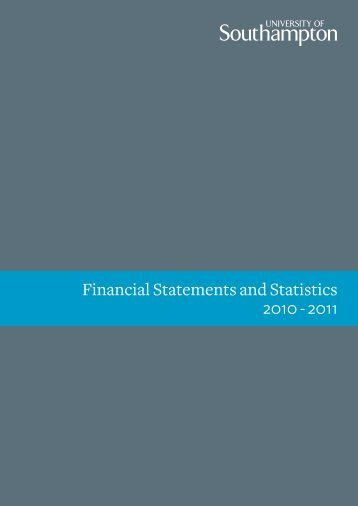 Financial Statements and Statistics 2010 - 2011 - University of ...