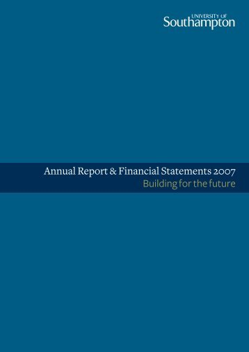 Annual Report Financial Statements 2007 Building For The