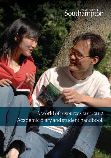 Student Handbook 2011/2012 - University of Southampton