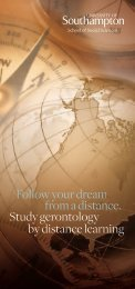 Distance learning - University of Southampton