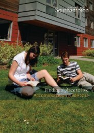 Finding a place to live Accommodation guide 2012 - University of ...