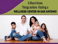 6 Must-Know Things before Visiting a Wellness Center in San Antonio