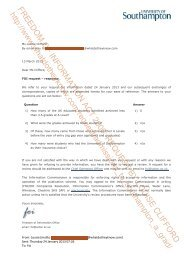 FREEDOM OF INFORMATION ACT 2000: REQUEST BY LOUISE ...