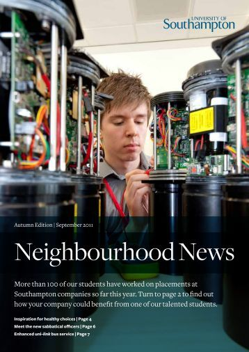 Neighbourhood News | Autumn 2011 - University of Southampton