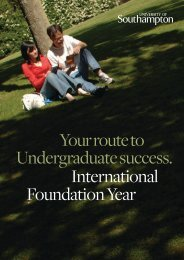 International Foundation Year course brochure - University of ...
