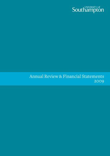 Annual Review & Financial Statements 2009 - University of ...