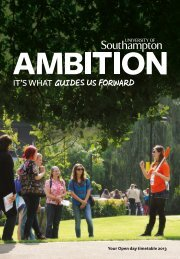 Open Day Guide - University of Southampton