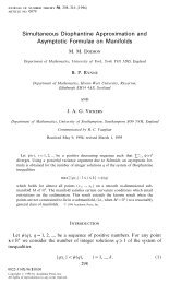 Simultaneous Diophantine Approximation and Asymptotic Formulae ...