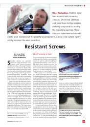 Resistant Screws - Engel Austria