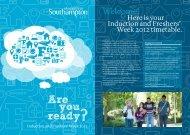 Freshers' Week - University of Southampton