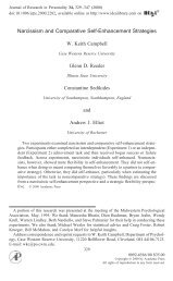 Narcissism and Comparative Self-Enhancement ... - ResearchGate