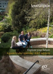 Explore your future. A guide to your open day - 6 & 7 July 2012