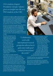 ORC student spotlight - University of Southampton