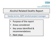 Alcohol Related Deaths Report