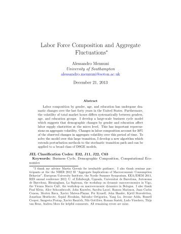 Labor Force Composition and Aggregate Fluctuations - Instituto de ...