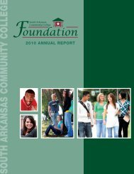 Annual Report, 2010-2011 - South Arkansas Community College