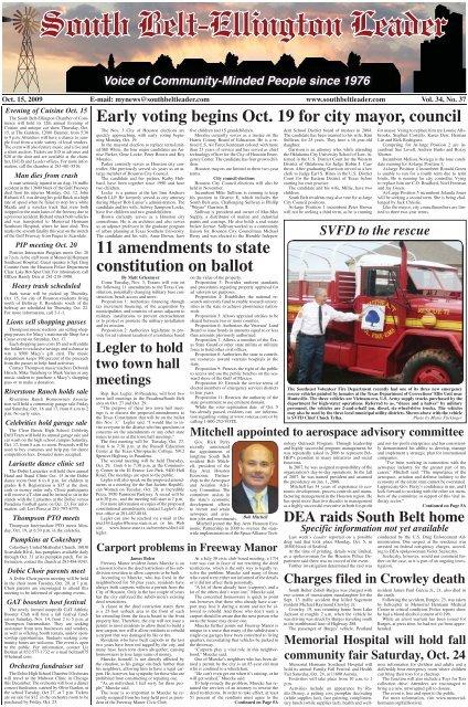 11 Amendments To State Constitution On Ballot South Belt Ellington