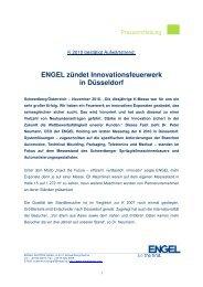 ENGEL zündet Innovationsfeuerwerk in Düsseldorf - Engel Austria