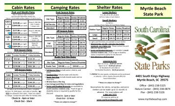 Myrtle Beach State Park Cabin Rates Shelter Rates ...   SC State Parks