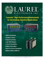 LAUREATE™ Panel Meter Series - AA Electric