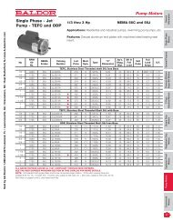 Pump Motors Single Phase - Jet Pump - TEFC and ODP - AA Electric