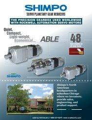 SERVO PLANETARY GEAR REDUCERS - AA Electric