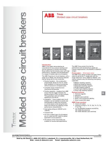 M olded case circuit breakers - AA Electric