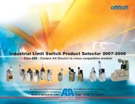 Industrial Limit Switch Product Selector 2007-2008 - AA Electric