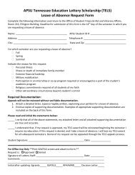 Lottery Leave of Absence Request
