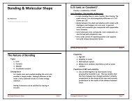Bonding & Molecular Shape