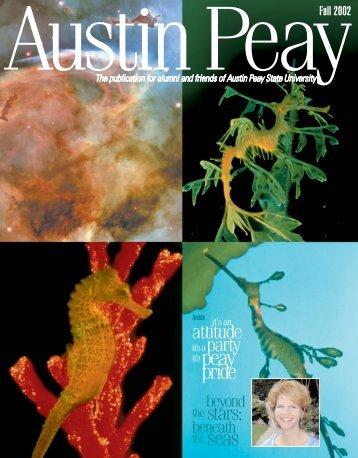 fall 2002 magazine 32+cover - Austin Peay State University