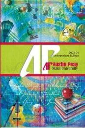 2003-2004 Bulletin - Austin Peay State University