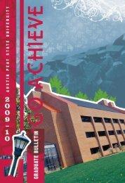 2009-2010 Bulletin - Austin Peay State University